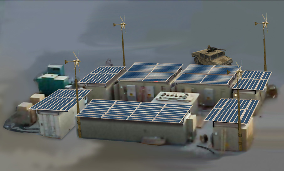 Containers with ETI's Green Solar Thermal Flys